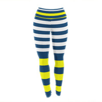 "Trebam ""Nauticki"" Yellow Navy Yoga Leggings"