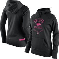 Kansas City Chiefs Nike Women's Breast Cancer Awareness Hoodie - Black