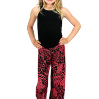 Lori & Jane Red/Black Palazzo Pants | Mod Angel