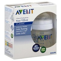 Avent Bottles, Natural Feeding, Classic, 4 oz, 0 M+, 2 bottles - Baby - Baby Feeding - Bottles