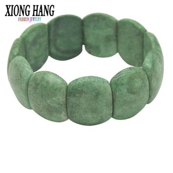 Xionghang Women Lucky Bracelets Bead Green String Ceramic Bracelets & Bangles Men Handmade Accessories Lovers Lucky Jewelry