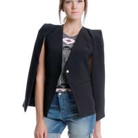 Suit Dream Cape Blazer - Black