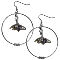 Baltimore Ravens 2 Inch Hoop Earrings