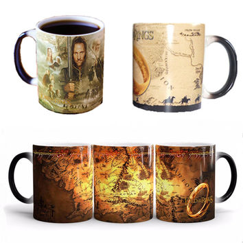 The Lord of The Rings Coffee Mug Series Mark Color Changing Cup Sensitive Ceramic Tea La Copa Friends Gift