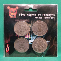 Five Nights at Freddy's Arcade Token Set of 4 Coins SEALED