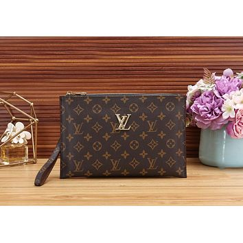 LV PRADA Fashionable Women Men Makeup Bags Handbag Business Bag Clutch Bag