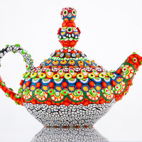 Clay Mosaic Ceramic Teapot - The Real Aladdin's Lamp