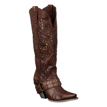 Lane Boots - Stud Rocker Brown