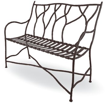 South Fork Wrought Iron Bench