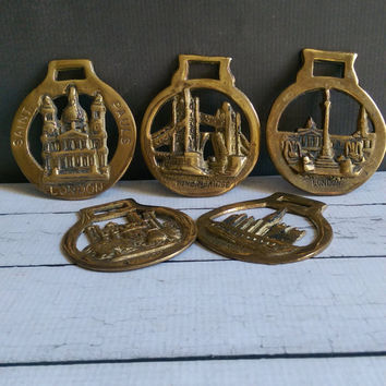 Brass Bottle Openers of London/ England Brass Bottle Openers/ Vintage Brass Bottle Opener/ English Brass Bottle Opener/ Vintage Bar