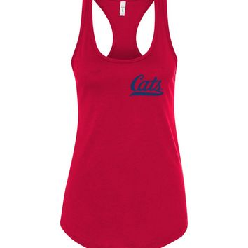 Official NCAA Venley University of Arizona Wildcats U of A Wilber Wildcat BEAR DOWN! Cats Baseball Tail Next Level Racerback Tank - 12UA-1-a