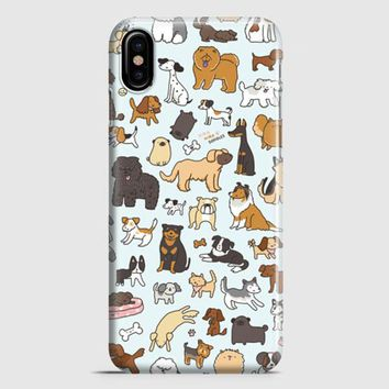 Dog Cute Husky Kawaii Corgi Pattern iPhone X Case