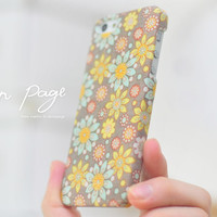 apple iphone case : pastel flowers