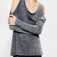 Urban Outfitters - Sparkle & Fade Cold Shoulder Tee