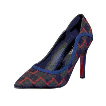Womens Trendy Checkered Heels