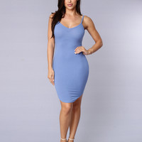 Happy Days Dress - Blue