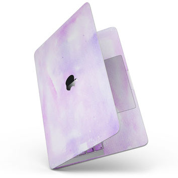 Purple Absorbed Watercolor Texture - MacBook Pro without Touch Bar Skin Kit