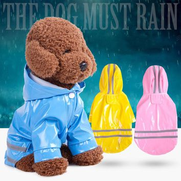 Pet Dog Outdoor Raincoat Waterproof Dog Rain Coat Jacket Reflective Clothing In Dark Rainwear Apparel for big dog raincoat