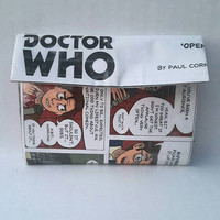 Doctor Who Coin Purse - Handmade Upcycled Comic Book Card Holder - Pouch