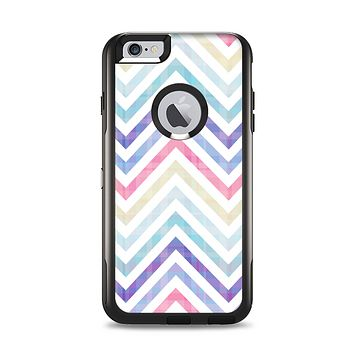 The Subtle Vintage Multi-Colored Chevron Pattern Apple iPhone 6 Plus Otterbox Commuter Case Skin Set