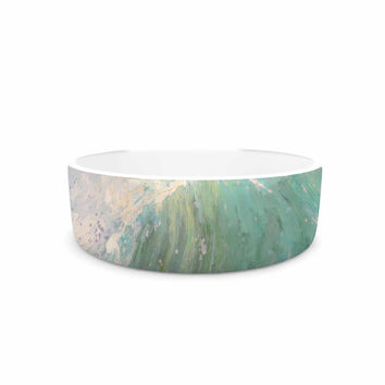"Carol Schiff ""Wall Of Water"" Blue Painting Pet Bowl"