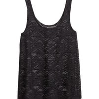Lace Tank Top - from H&M