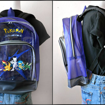VINTAGE Pokemon Backpack - Mewtwo's Crew