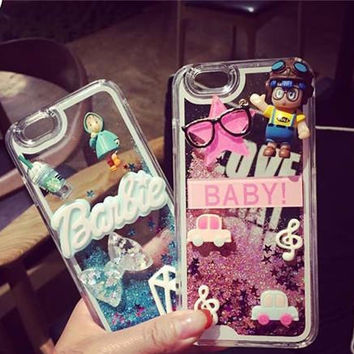 Lovely Cartoon Iphone 5/5S 6/6S 6 Plus/6S Plus Cases Fashion Drift Sand Designer 4/4.7/5.5 Smart Phone Protective Shell