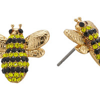 Kate Spade New York Picnic Perfect Pave Bee Studs Earrings