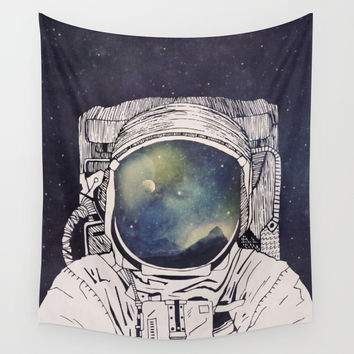 Astronaut Lost 2.1 Wall Tapestry by jetquasars