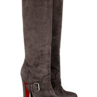 Christian Louboutin | Harletty 140 suede knee boots | NET-A-PORTER.COM