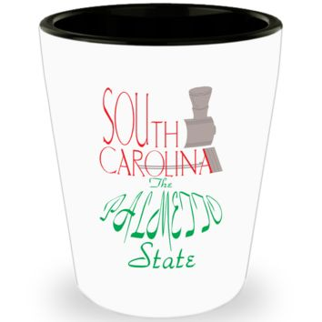 South Carolina Palmetto State Shot Glass Gift