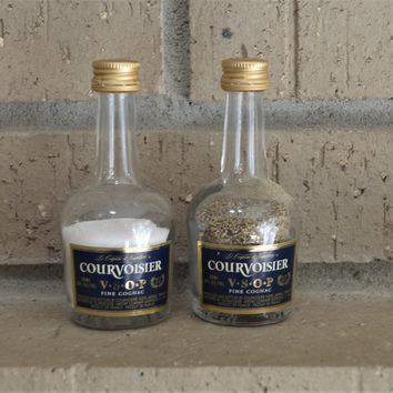 Upcycled Courvoisier Glass Salt and Pepper Shakers