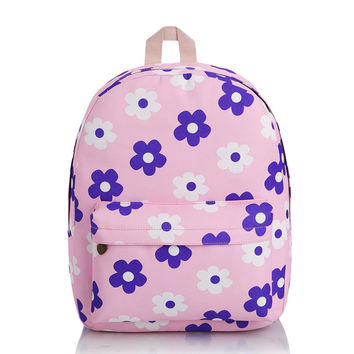 Canvas Cartoons Classic Classics Casual Korean Backpack = 4888066948