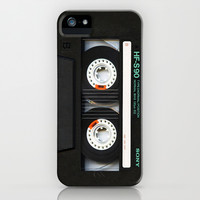 Classic retro sony cassette tape iPhone 4 4s 5 5c, ipod, ipad, tshirt, mugs and pillow case iPhone & iPod Case by Three Second