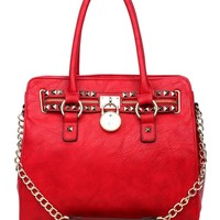K68031L MyLux Limited Top Double Handle handbag (red)
