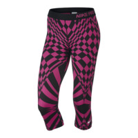Nike Pro Engineered Warped Check Women's Training Capri Pants