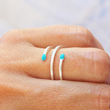Unique Statement Ring, Turquoise Statement Ring, Turquoise Ring, Sterling Silver Ring