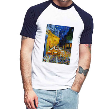 the cafe terrace Vincent van Gogh art painting d38db839-400a-4b63-9eea-18d8de3c119f For Man Raglan and Woman Raglan XS / S / M / L / XL / 2XL *NP*