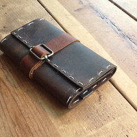 Moleskine Leather journal cover by Aixa on by LUSCIOUSLEATHERNYC