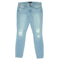 Genetic Womens Shaya Low-Rise Destroyed Cigarette Jeans