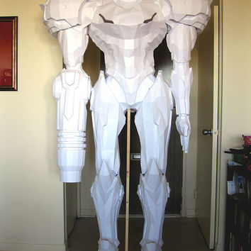 Metroid Papercraft Pattern - Life Sized Samus - Cosplay or Statue