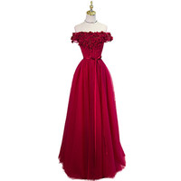 cap sleeves burgundy prom dresses long  ball gowns 2017  vestido de festa new style custom make free shipping