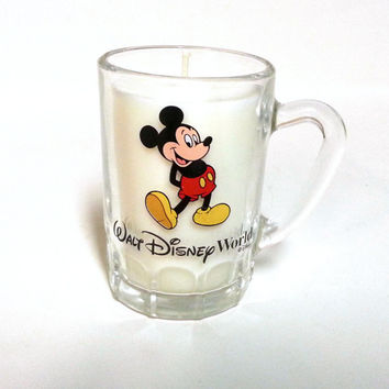 Mickey Mouse Soy Candle - Disney World Glass Mini Mug - CHOICE OF SCENT