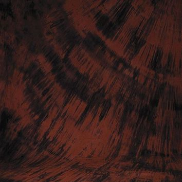 Printed Muslin Abstract Tie Dye Black and Red Contrast Backdrop - 111-23