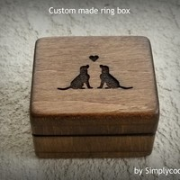 love dogs, dogs, engagement ring box, ring box, wedding ring box, custom ring box, will you marry me, personalized ring box, Simplycoolgifts