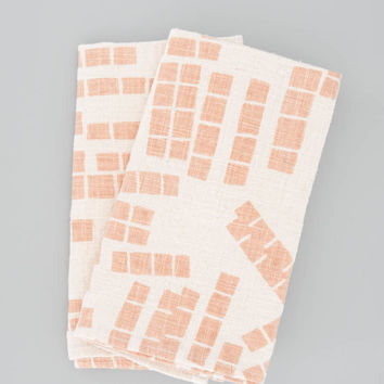 Napkins - Tiles in Terracotta