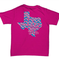Southern Belle Just a Small Town Girl Texas Chevron Girlie Bright T Shirt