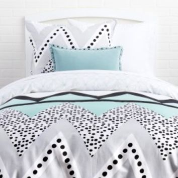 Liv/Pinwheel Reversible Duvet and Sham Set