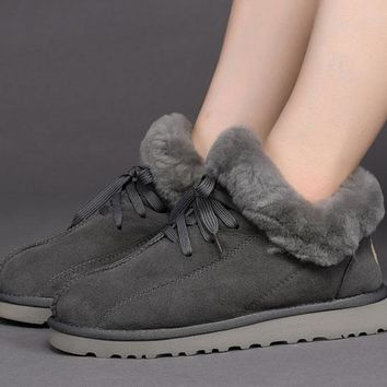 Ugg 1011894 Gray Classic Sheepskin Boots Snow Boots #1011894 2